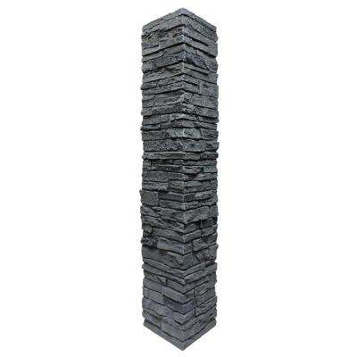 Slatestone 8 in. x 8 in. x 41 in. Rocky Mountain Graphite Faux Polyurethane Stone Post Cover