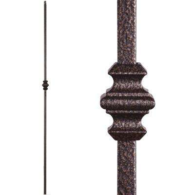 Versatile 44 in. x 0.5 in. Copper Vein Single Knuckle Hollow Wrought Iron Baluster