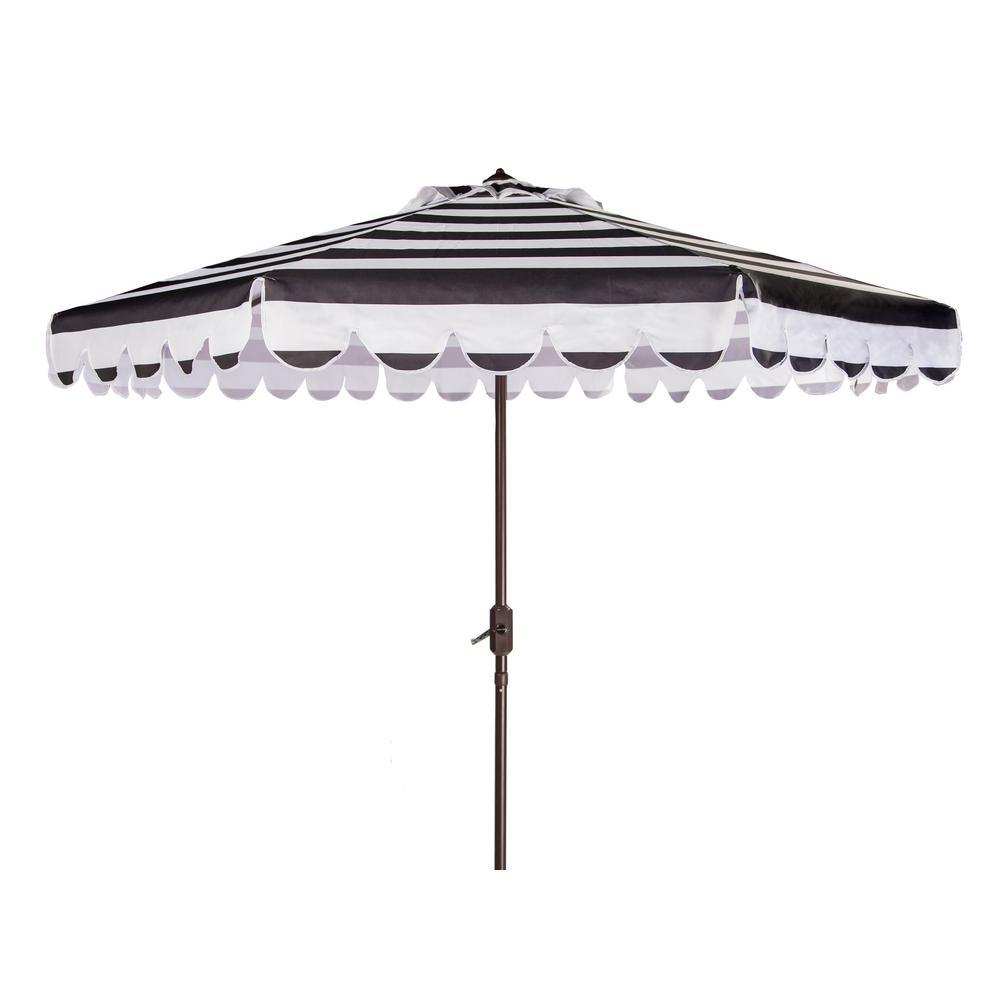 Maui 9 ft. Aluminum Market Tilt Patio Umbrella in Black/White