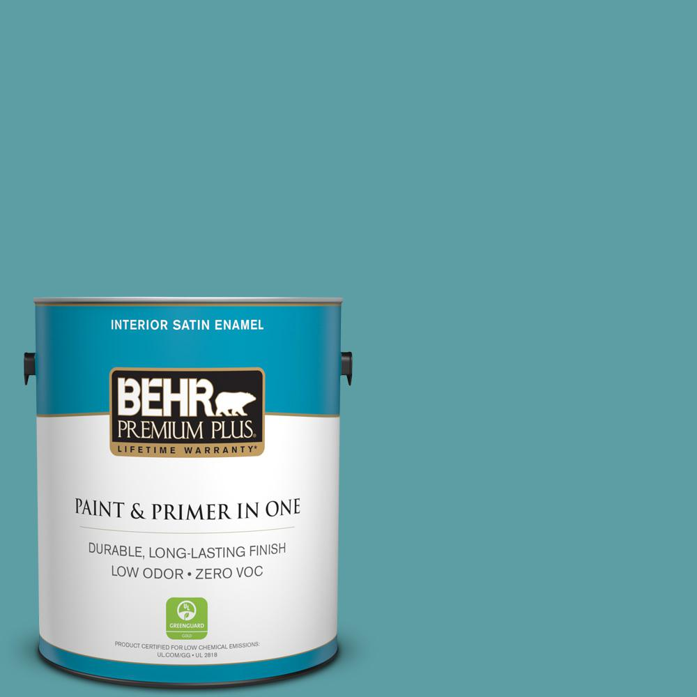1 gal. #PPU13-05 Bali Bliss Zero VOC Satin Enamel Interior Paint