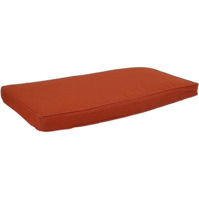 41 in. x 18 in. Rectangle Outdoor Bench or Porch Swing Cushion in Rust