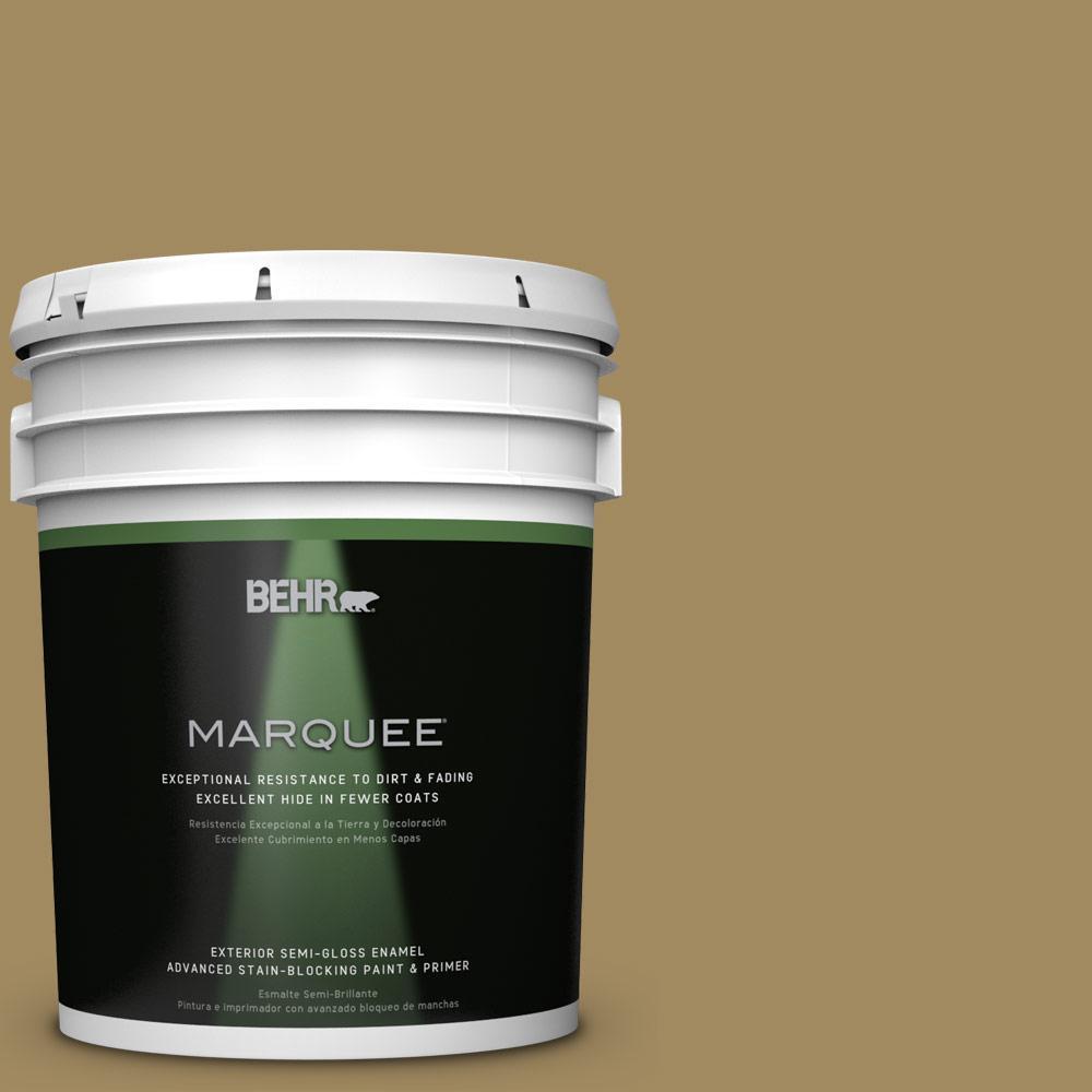BEHR MARQUEE 5-gal. #S320-6 Garden Salt Green Semi-Gloss Enamel Exterior Paint