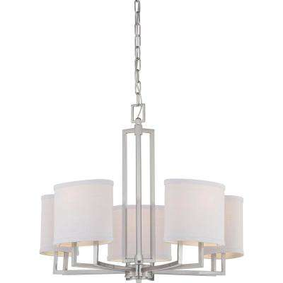 Maxwell 5-Light Brushed Nickel Chandelier