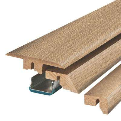 Champagne Bay Oak 3/4 in. Thick x 2-1/8 in. Wide x 78-3/4 in. Length Laminate 4-in-1 Molding