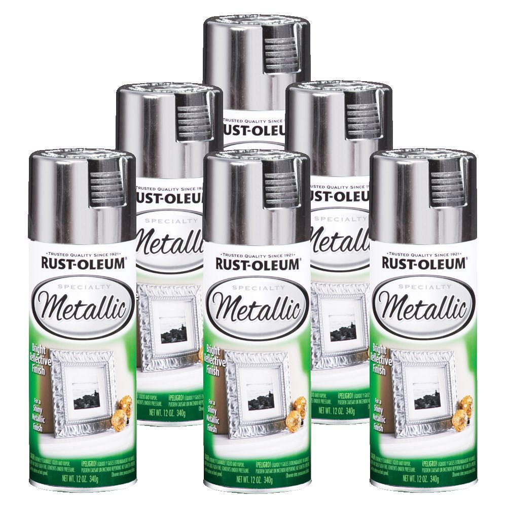 Rust-Oleum Specialty Metallic 12 oz. Gloss Silver Spray Paint (6-Pack)-DISCONTINUED
