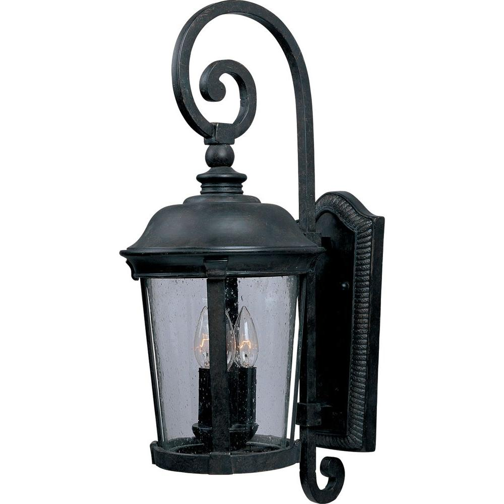 Home Decorators Collection Wesleigh 2 Light Bronze Outdoor Wall Mount 23421