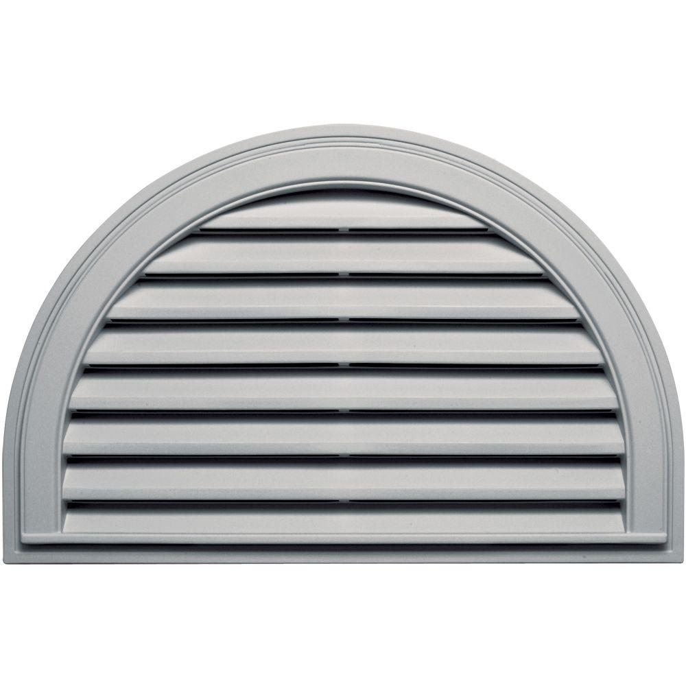 Builders Edge 22 In X 34 In Half Round Gable Vent In