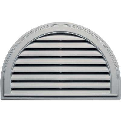 22 in. x 34 in. Half Round Gable Vent in Paintable