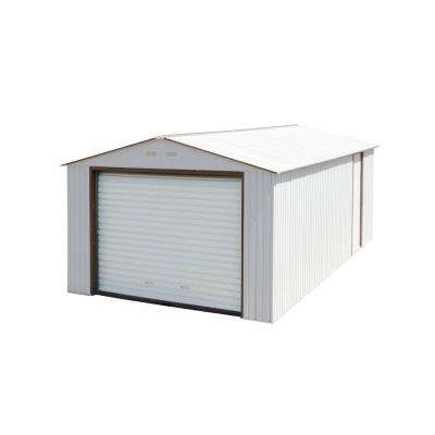 Imperial 12 ft. x 32 ft. x 8-1/2 ft. Off-White Metal Garage Off-White without Floor