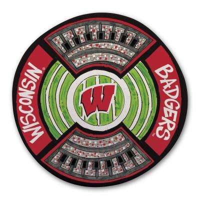 Wisconsin Football Stadium Melamine Platter