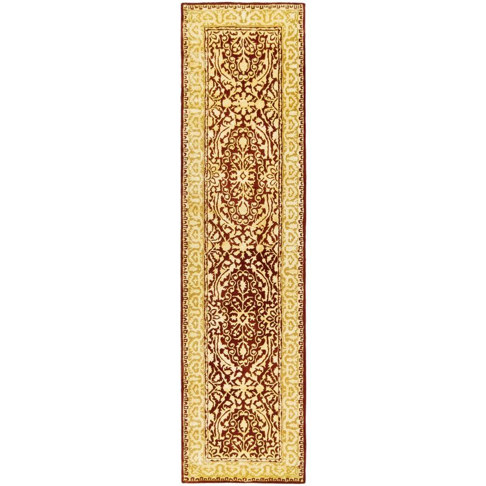 Silk Road Maroon and Ivory 2 ft. 6 in. x 10