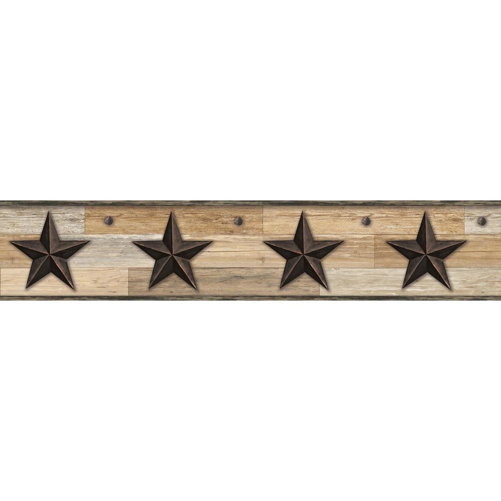 Pallet Star Browns Wallpaper Border