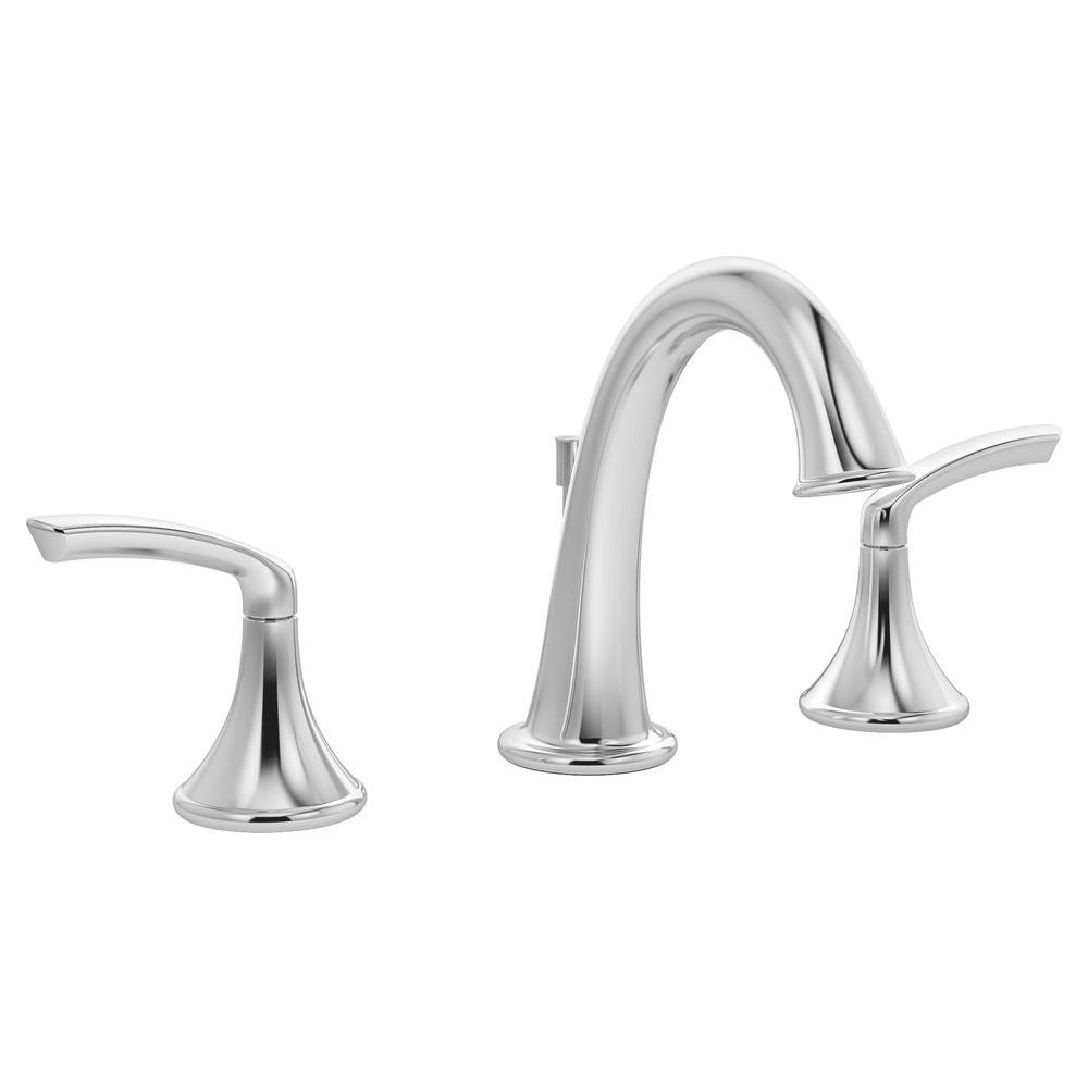 symmons elm 8 in widespread 2 handle lavatory faucet in chrome slw
