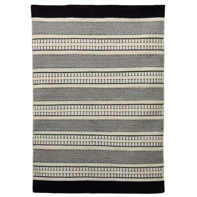 Monochrome Beige/Black 5 ft. x 7 ft. Indoor Area Rug