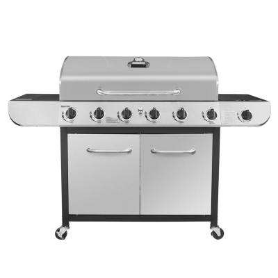 6-Burner Propane Gas Grill in Stainless Steel with Sear Burner