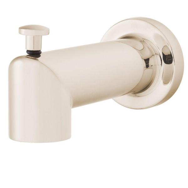 Neo Diverter Tub Spout in Polished Nickel (Valve and Handles Not Included)