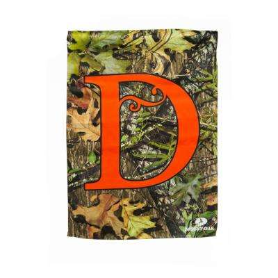Mossy Oak 2-1/2 ft. x 3-2/3 ft. Monogrammed D 2-Sided Sublimated House Flag