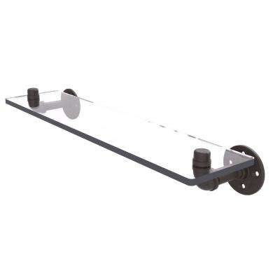 Pipeline Collection 22 in. Glass Shelf in Oil Rubbed Bronze