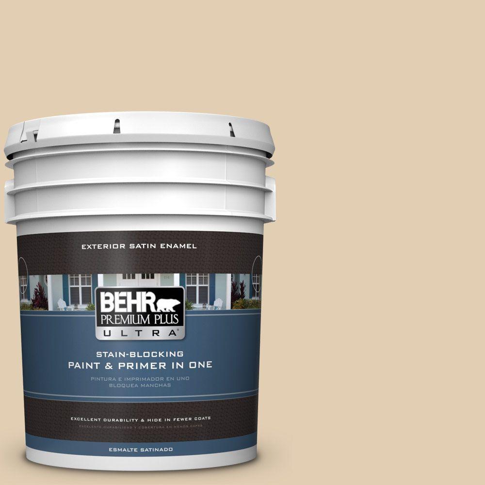 BEHR Premium Plus Ultra 5-gal. #HDC-AC-09 Concord Buff Satin Enamel Exterior Paint
