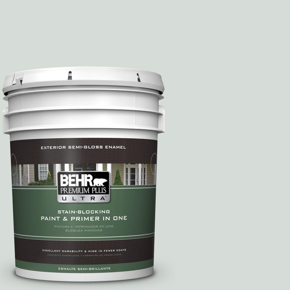BEHR Premium Plus Ultra 5-gal. #PPL-66 Iced Slate Semi-Gloss Enamel Exterior Paint