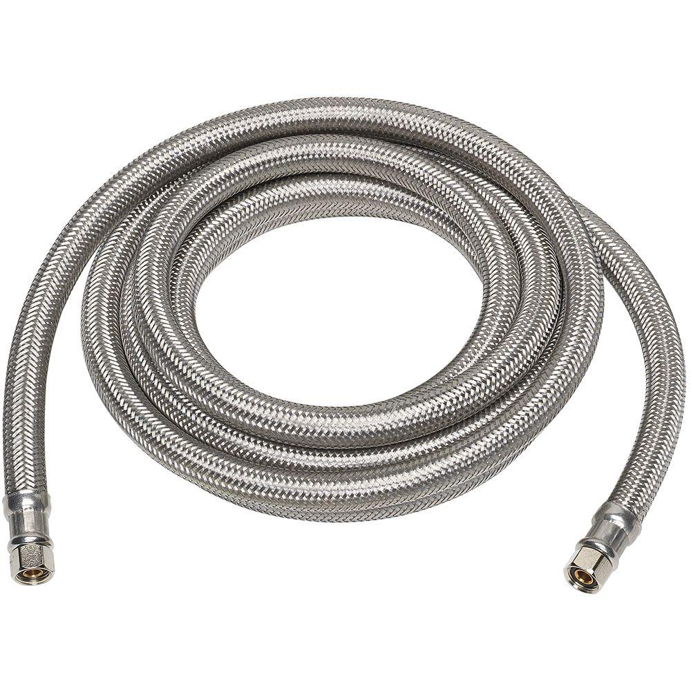 Everbilt 1/4 in. x 1/4 in. x 120 in. Stainless Steel Ice Maker Supply Line
