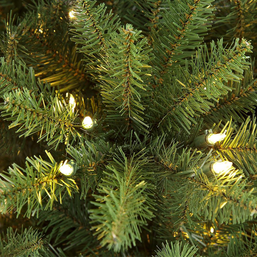 Puleo International 6.5 ft. Pre-Lit Incandescent Fraser Fir Artificial Christmas Tree with 500 UL Clear Lights