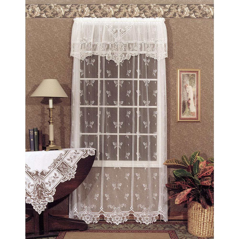 Heritage Lace Heirloom White Curtain 60 In W 84 L