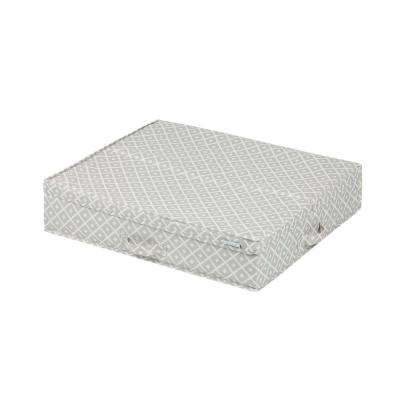 Storit Medium Beige Polyester Underbed Storage Box with Pattern 1-Pack