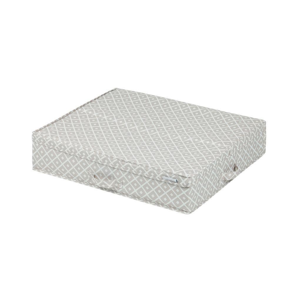 Storit Medium Beige Polyester Underbed Storage Box with Pattern 1-Pack