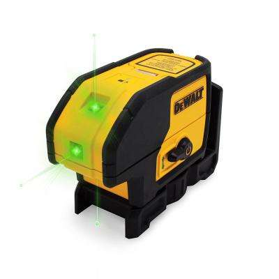 100 ft. Green Self-Leveling 3-Spot Laser Level with (2) AA Batteries & Case