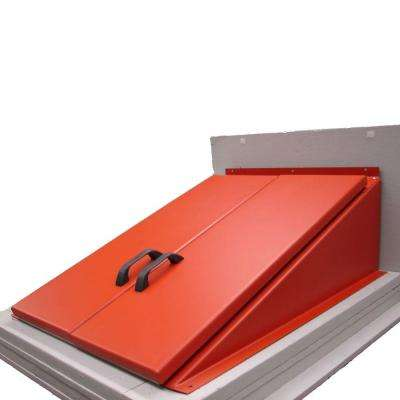 49 in. W x 51 in. H Primed Steel Cellar Door for Flat Foundations