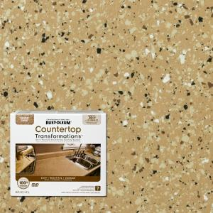 Rust Oleum Transformations 48 Oz Desert Sand Small Countertop Kit 258514 The Home Depot