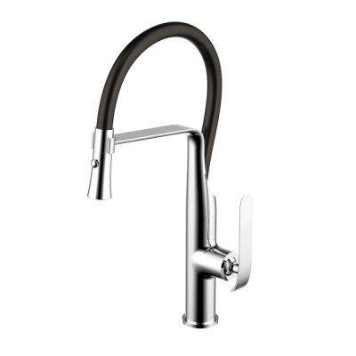 Single-Handle Pull-Down Sprayer Kitchen Faucet in Triple Plated Chrome with Dual Function Sprayer