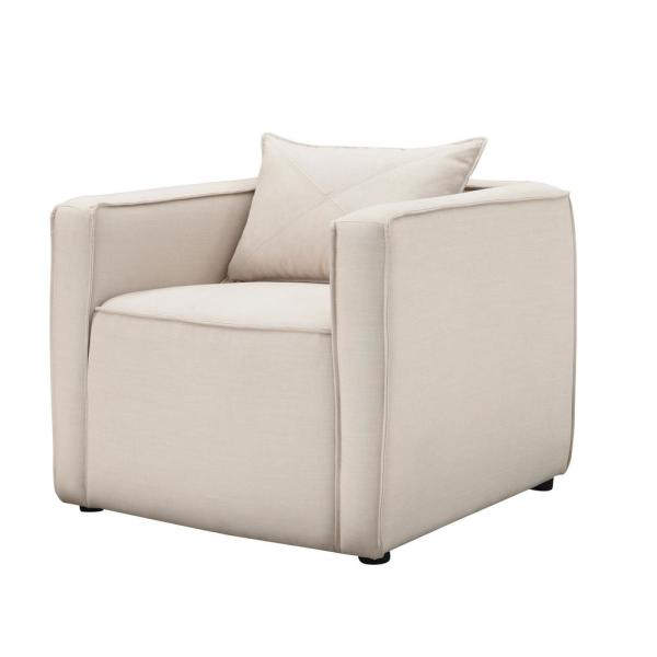 Absalon Cream Low-Back Accent Chair