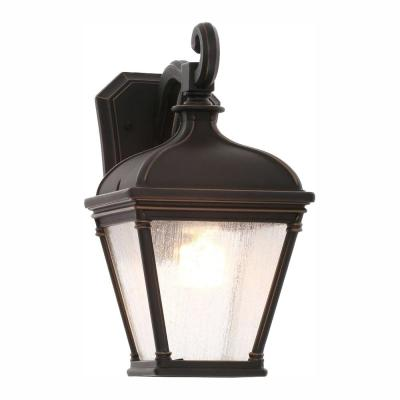 Malford Dark Rubbed Bronze Outdoor Wall Lantern Sconce
