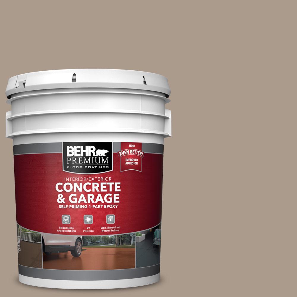 5 gal. #N210-4 Espresso Martini 1-Part Epoxy Satin Interior/Exterior Concrete and Garage Floor Paint
