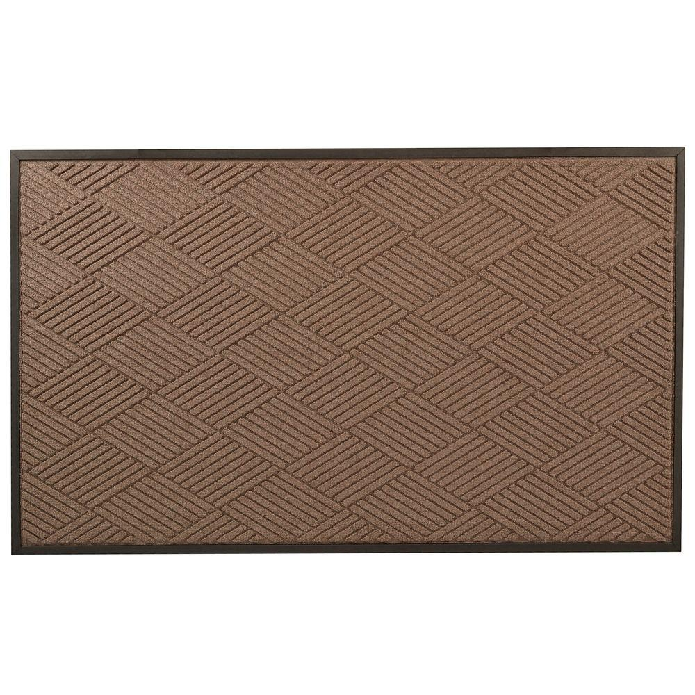 Opus Brown 24 in. x 36 in. Rubber-Backed Entrance Mat