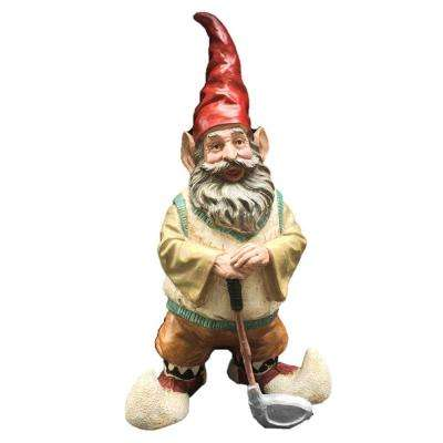 21 in. Golfer Gnome Holding Golf Club Collectible Statue