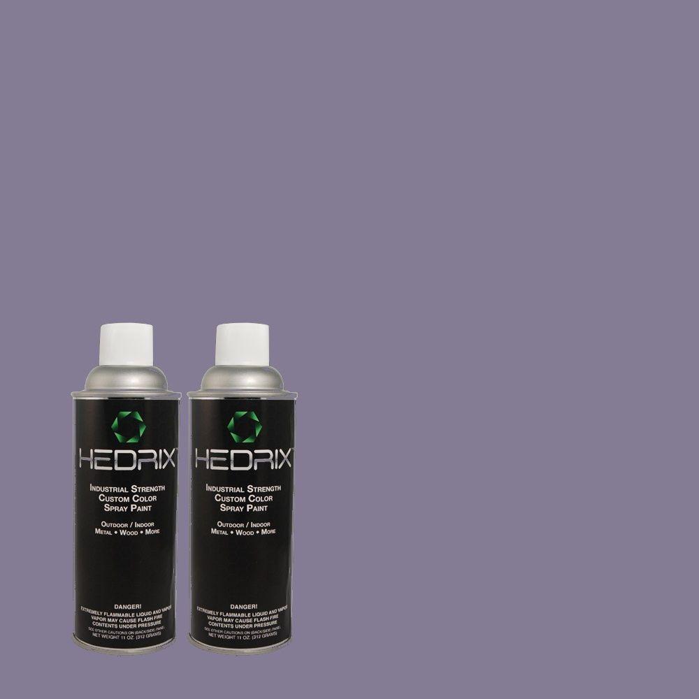 Hedrix 11 oz. Match of 630D-6 Palace Purple Flat Custom Spray Paint (2-Pack)