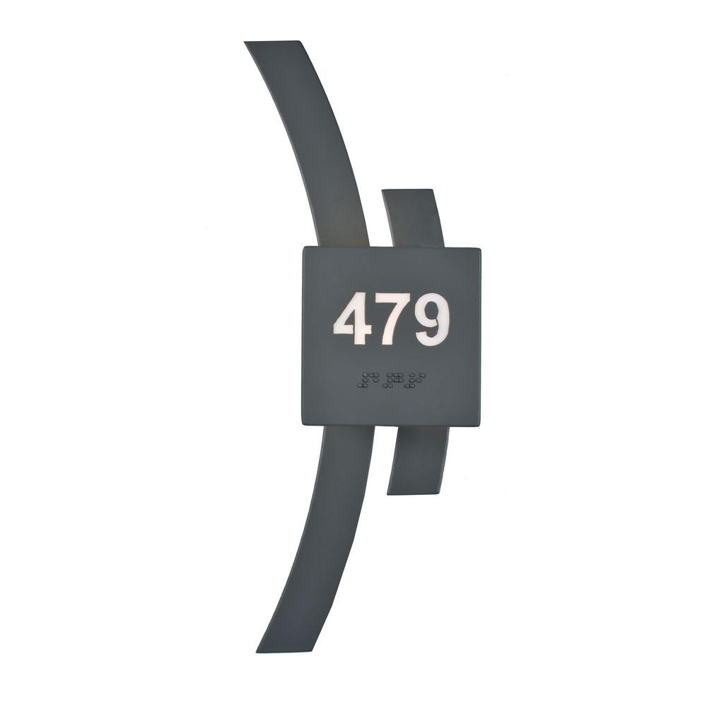 Illumine 1 Personalized Room Number Wall Sconce