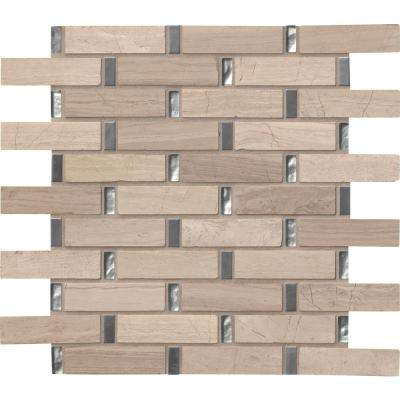 Stella 12 in. x 12 in. x 8 mm Glass, Metal and Stone Mesh-Mounted Mosaic Tile (10 sq. ft. / case)