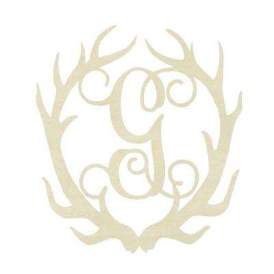 19.5 in. Unfinished Antler Monogram (G)