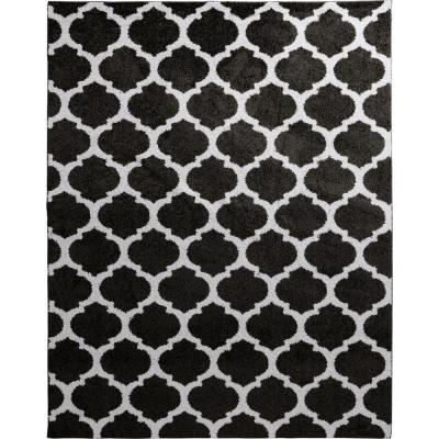Seyward Grey 8 ft. x 10 ft. Trellis Shag Area Rug