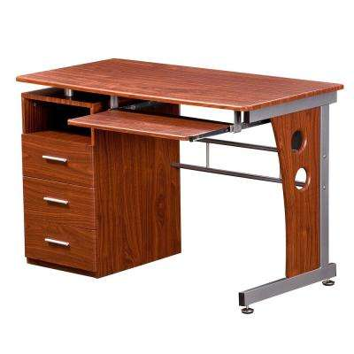 Mahogany Computer Desk With Ample Storage