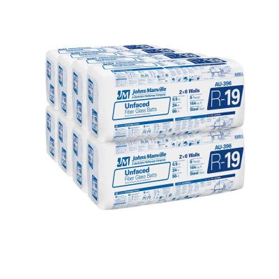 R-19 Unfaced Fiberglass Insulation Batt 24 in. x 96 in. (8-Bags)