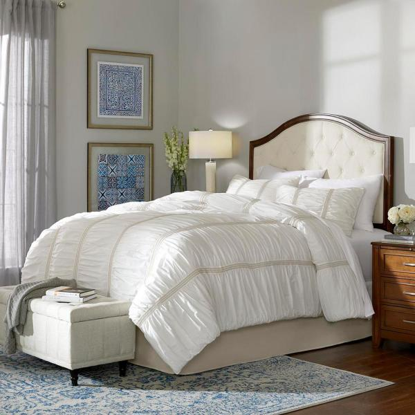Home Decorators Collection Romany 3-Piece Ivory Ruffled