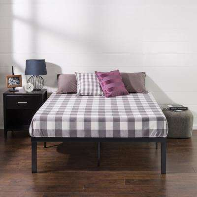 Luis Quick Lock 16 Inch Metal Platform Bed Frame, Full