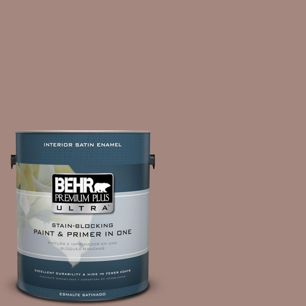 BEHR Premium Plus Ultra 1-gal. #BNC-11 Pink Granite Satin Enamel Interior Paint