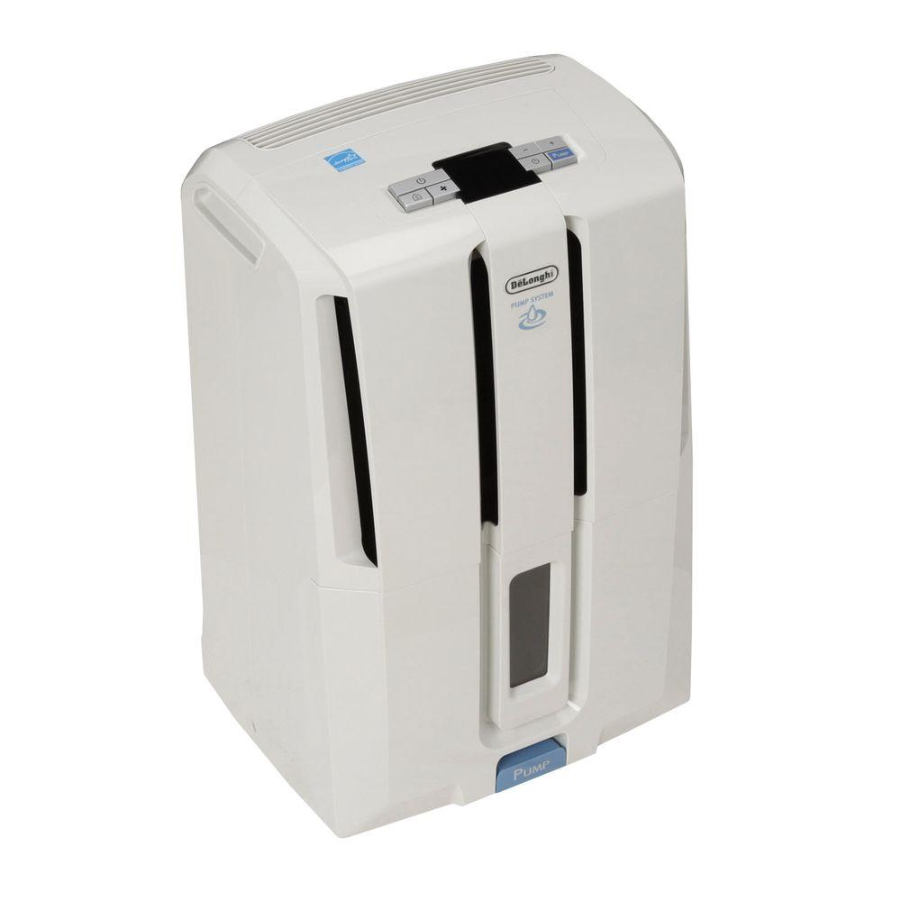 DeLonghi 50-pint Energy Star Dehumidifier with Patented Pump-DISCONTINUED