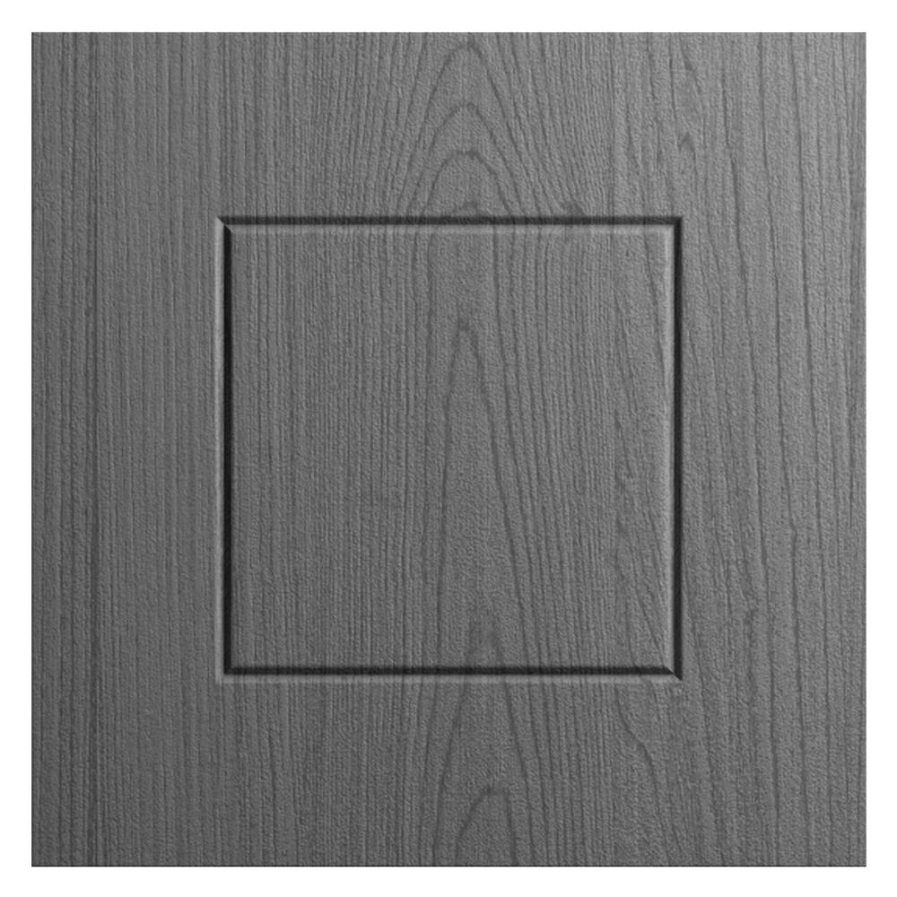 WeatherStrong 12x12 in. Cabinet Door Sample in Palm Beach Rustic Gray